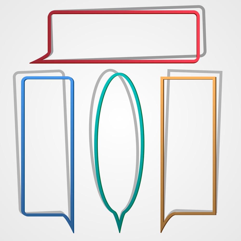 Speech Bubbles From Paper