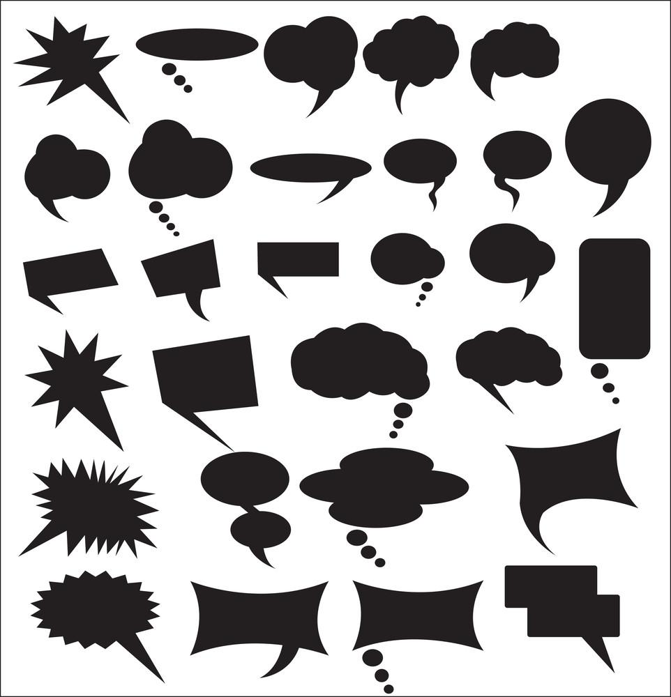 Speech Bubbles Shapes