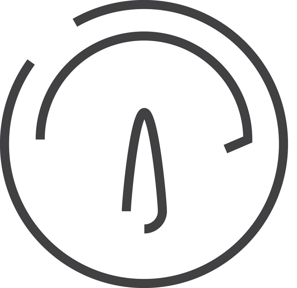 Speed Clock Minimal Icon