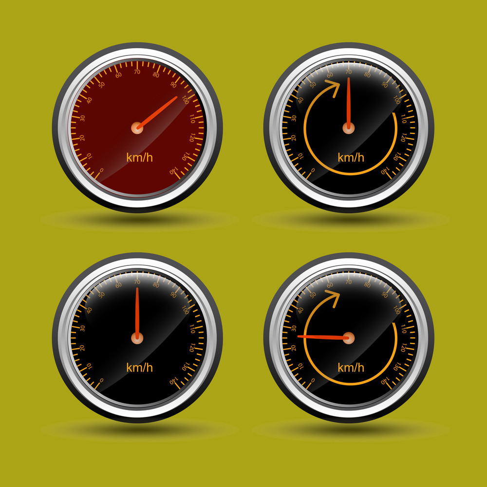 Speed Meter Vector Icons