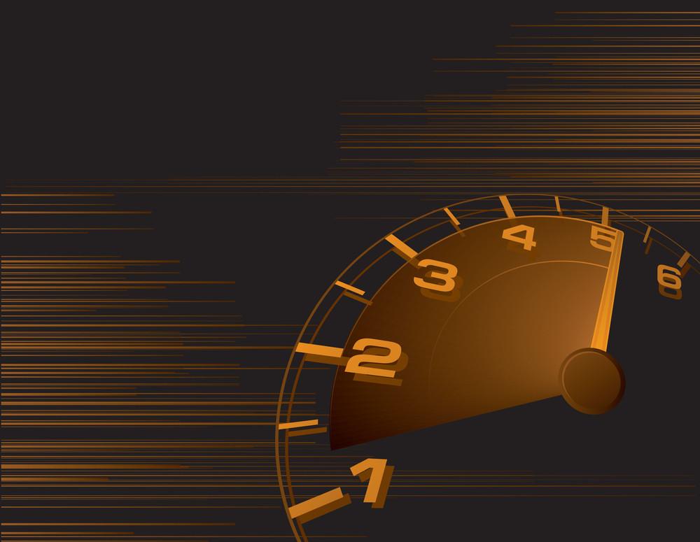 Speed Orange Vector Abstract.