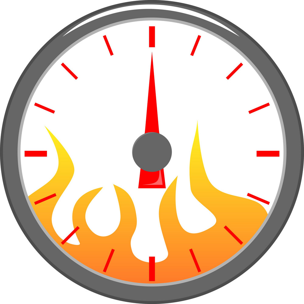 Speedometer With Flame