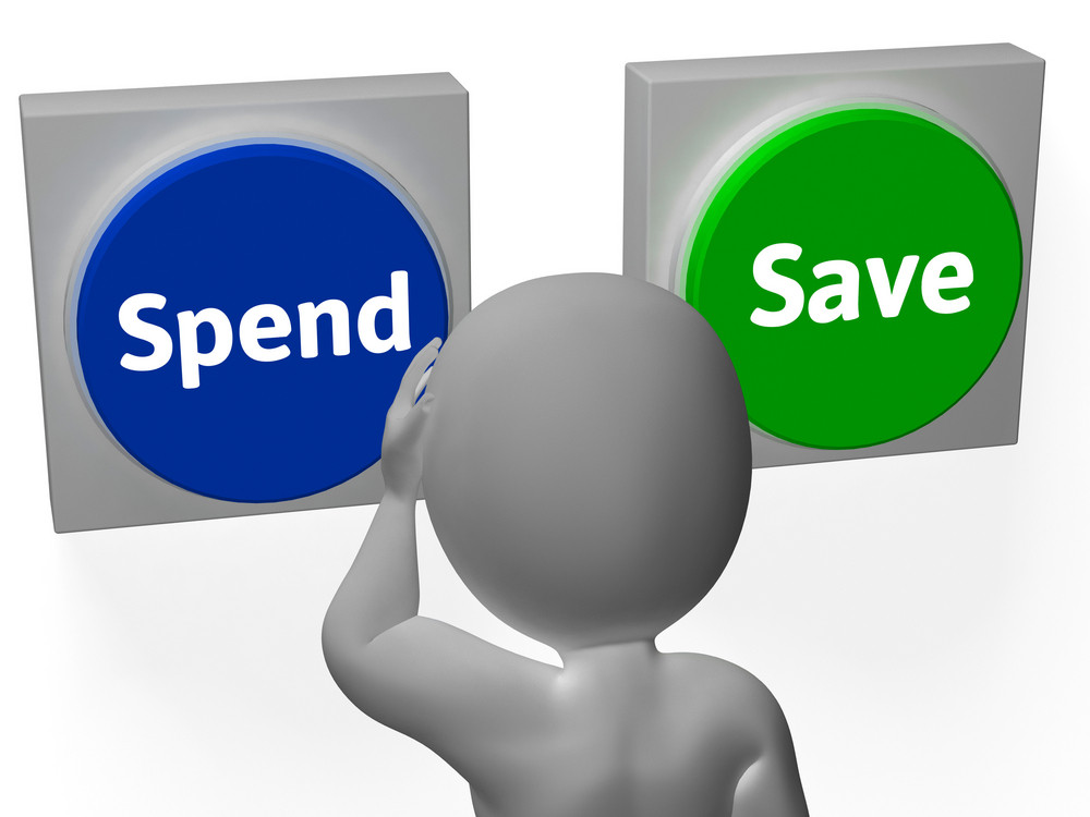 Spend Save Buttons Show Buy Budget Or Saving