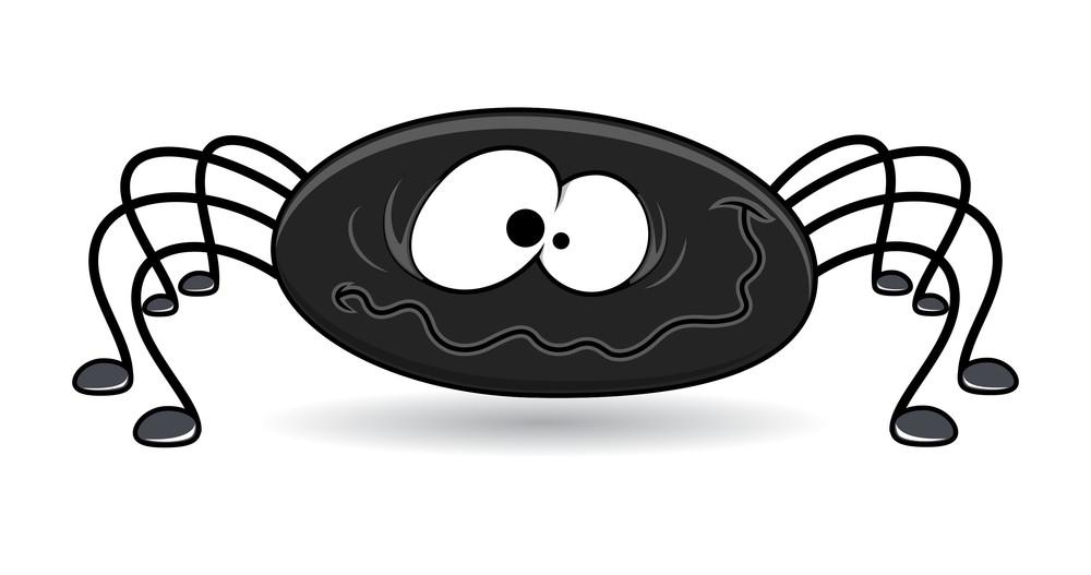 Spider Cartoon - Halloween Vector Illustration