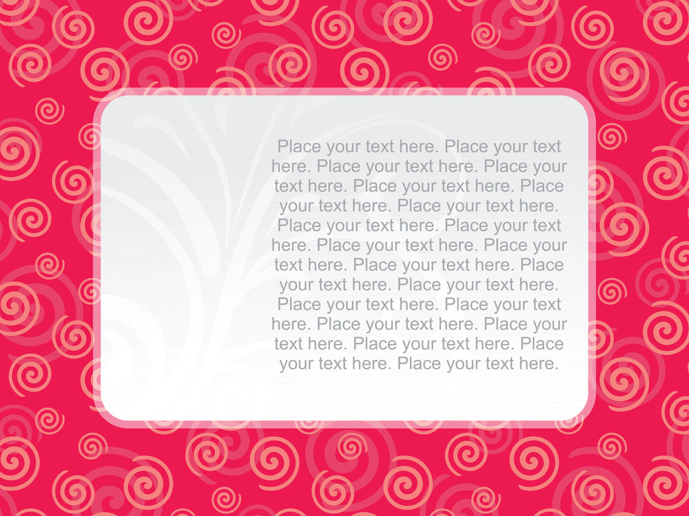 Spiral Background With Floral Banner