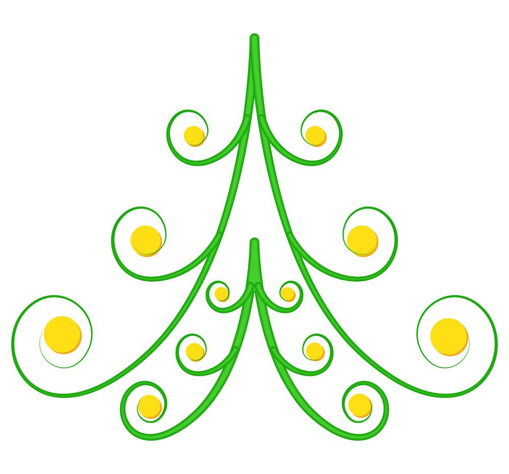 Spiral Christmas Tree Design