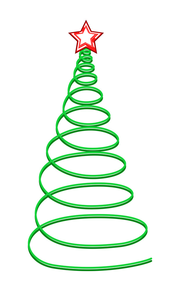 Spiral Christmas Tree With Star