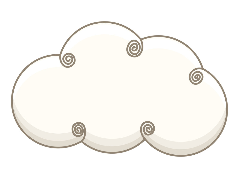 Spiral Cloud Vector Design