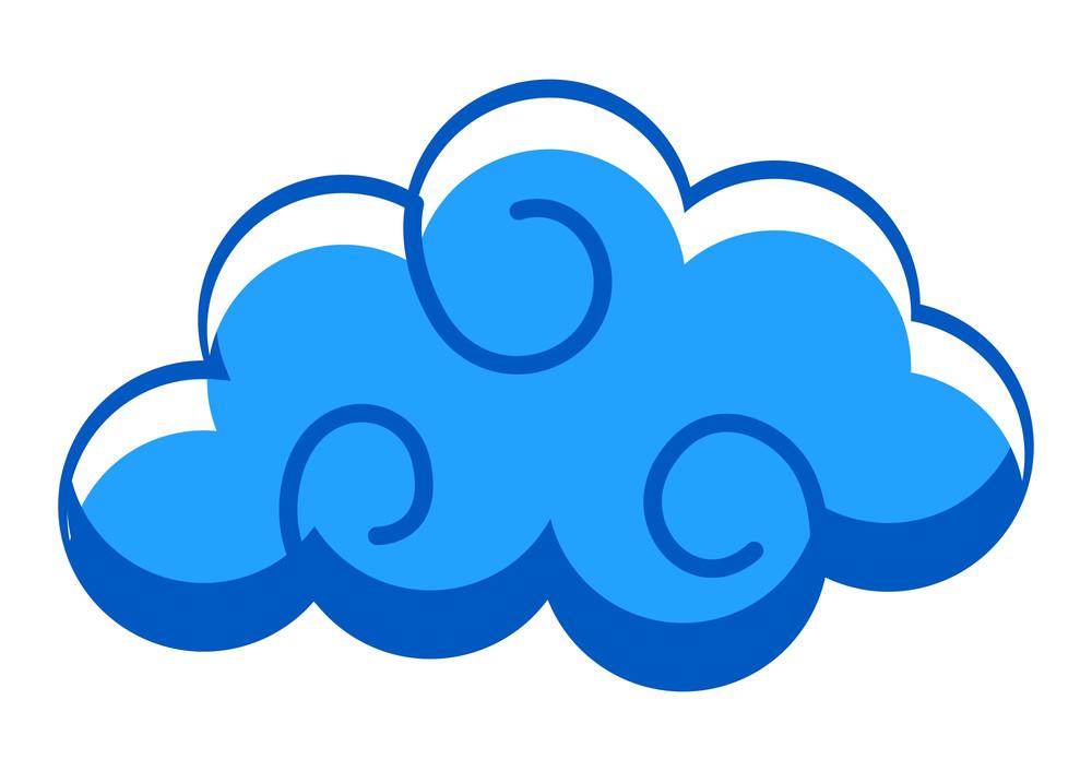Spiral Cloud Vector Shape