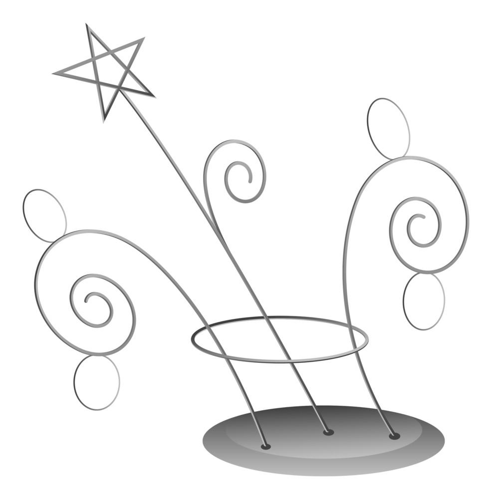 Spiral Decoration - Christmas Vector Illustration