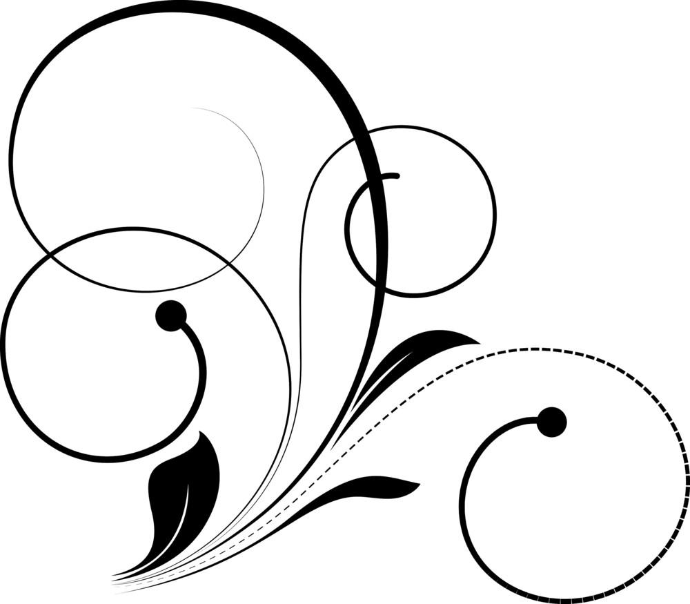 Spiral Flourish Design