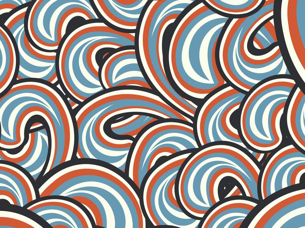 Spiral Pattern Wallpaer Illustration