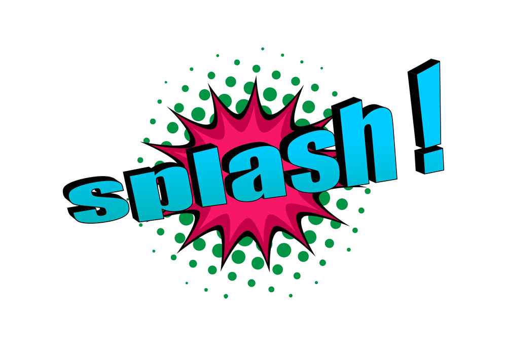 Splash Retro Text Banner Design