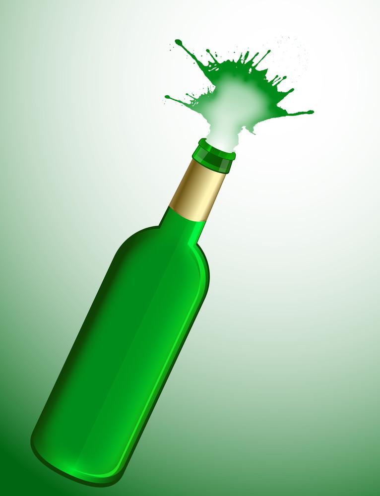 Splashing Champaign Bottle