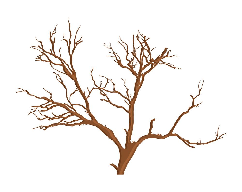 Spooky Dead Tree Vector