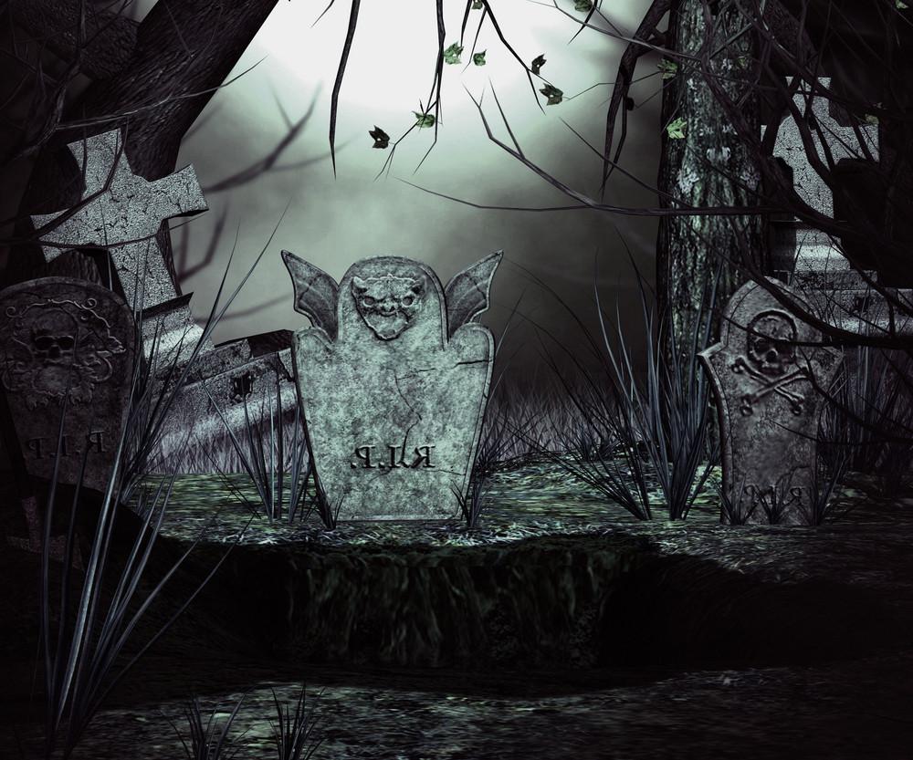 Spooky Graveyard Backdrop