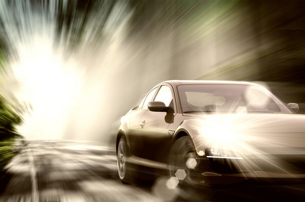 Sport Car On Road
