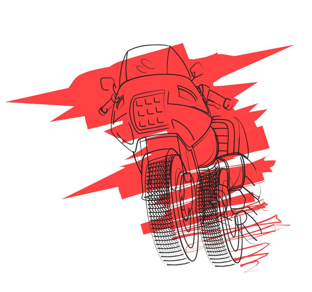 Sports Bike Drawing
