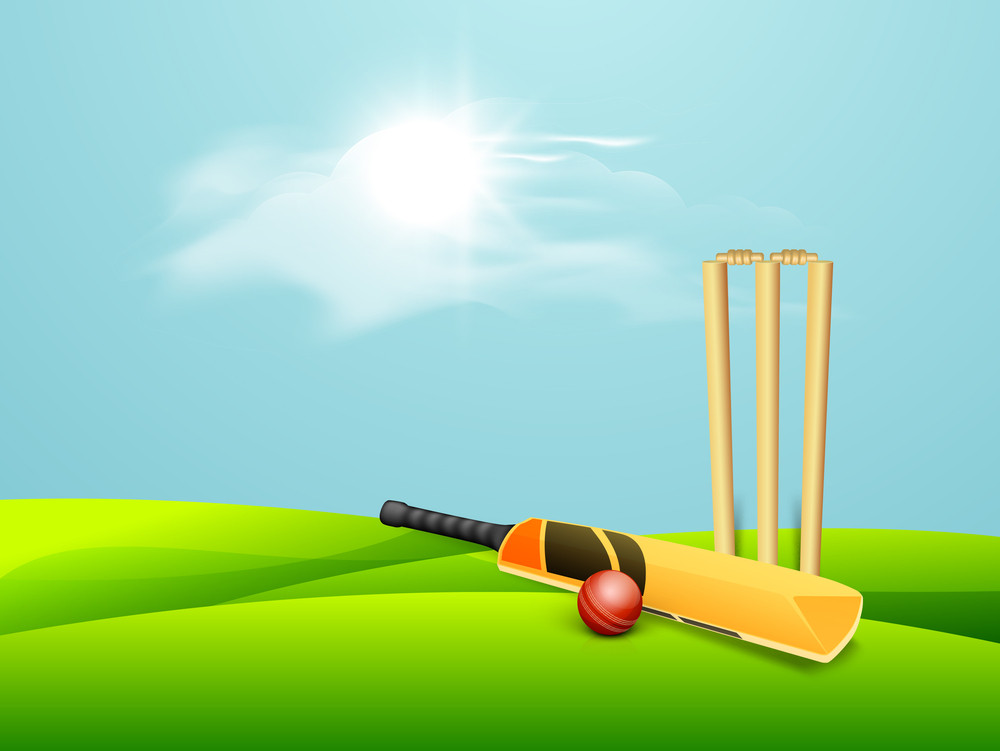 Sports Concept With Cricket Bat