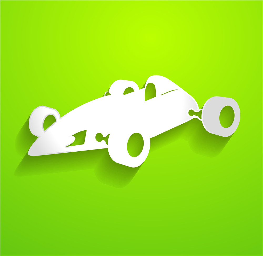 Sports Racing Car Vector Shape