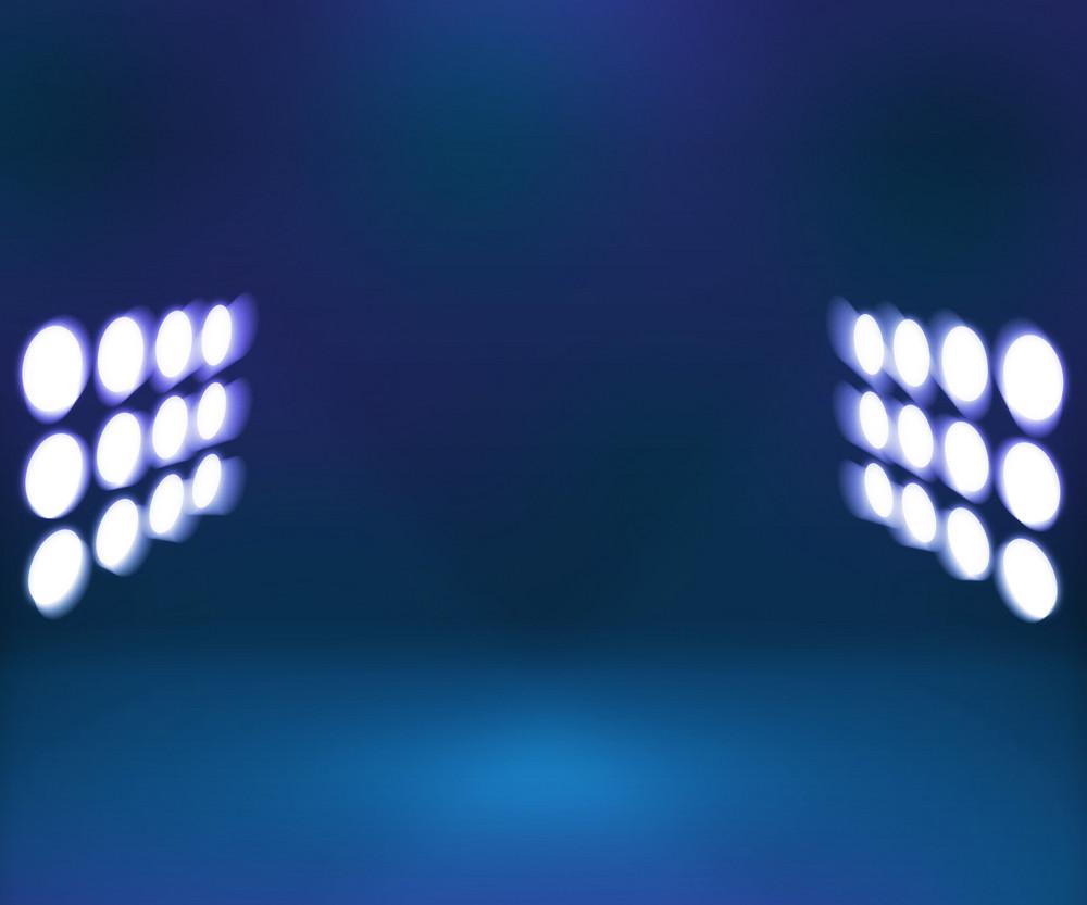 Spotlight Blue Interior Background