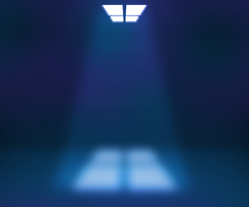 Spotlight Blue Room Background