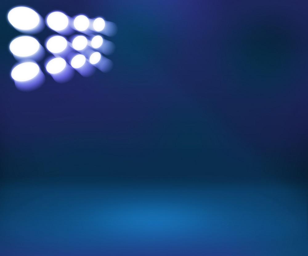 Spotlight Blue Room Clear Background