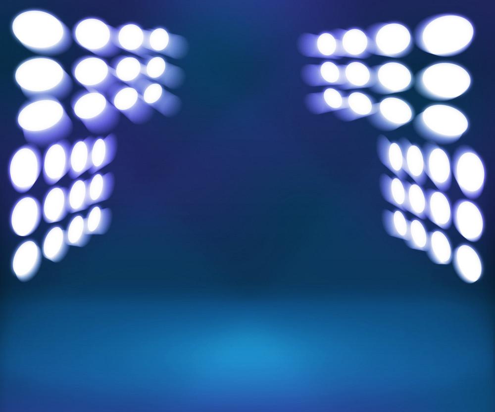 Spotlight Blue Room Stage Background