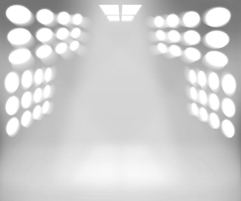Spotlight White Room Background