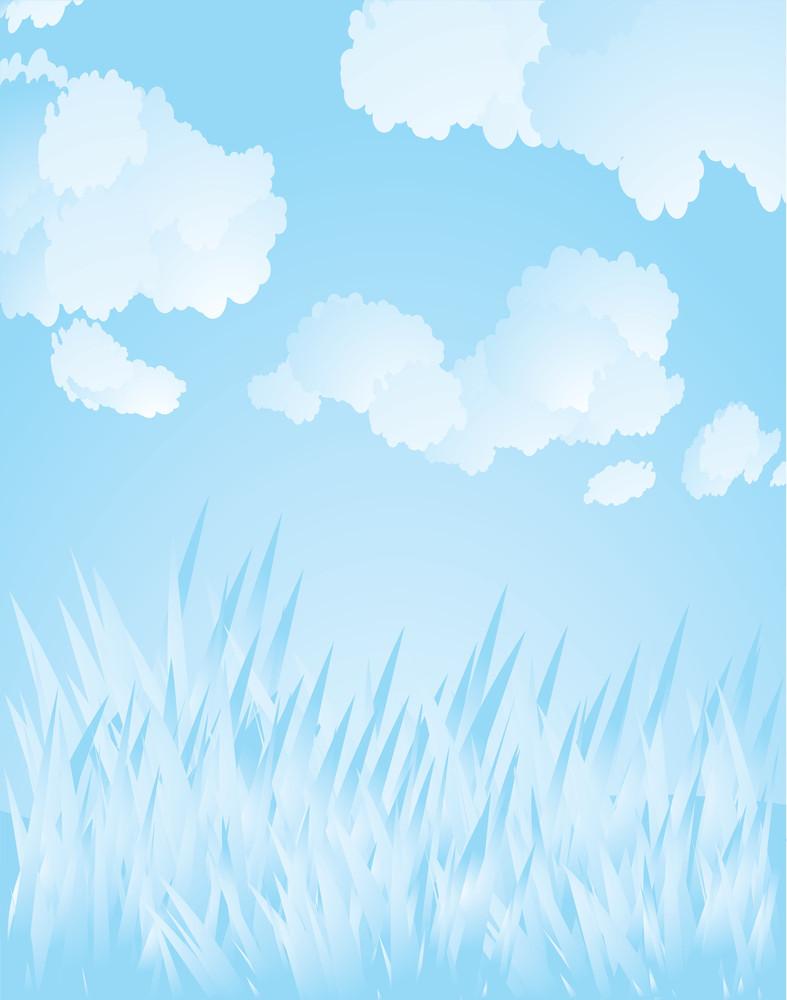 Spring Grass. Vector Background.