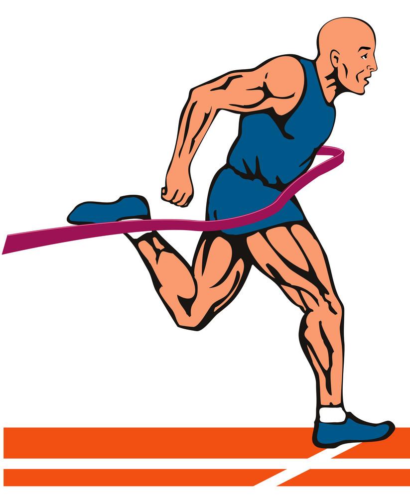 Sprinter In Finish Line