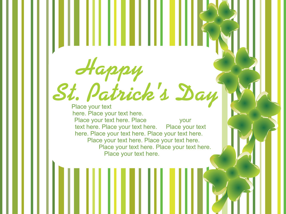 St. Patric Card With Place For Text