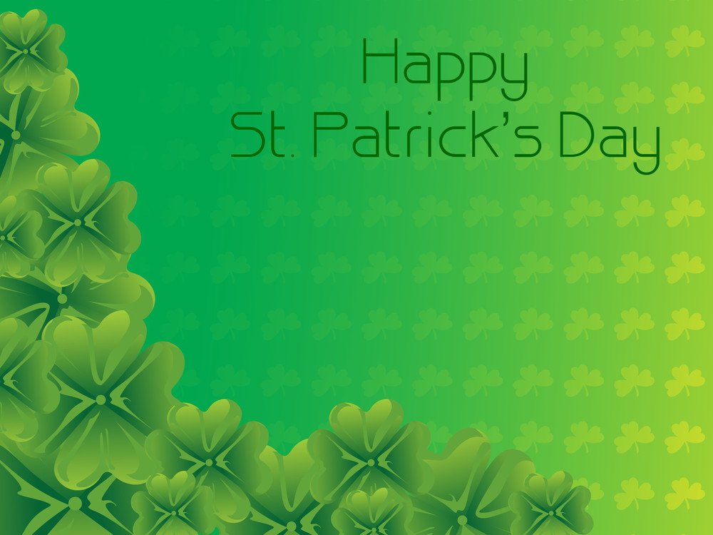 St Patrick Day Background With Bloom