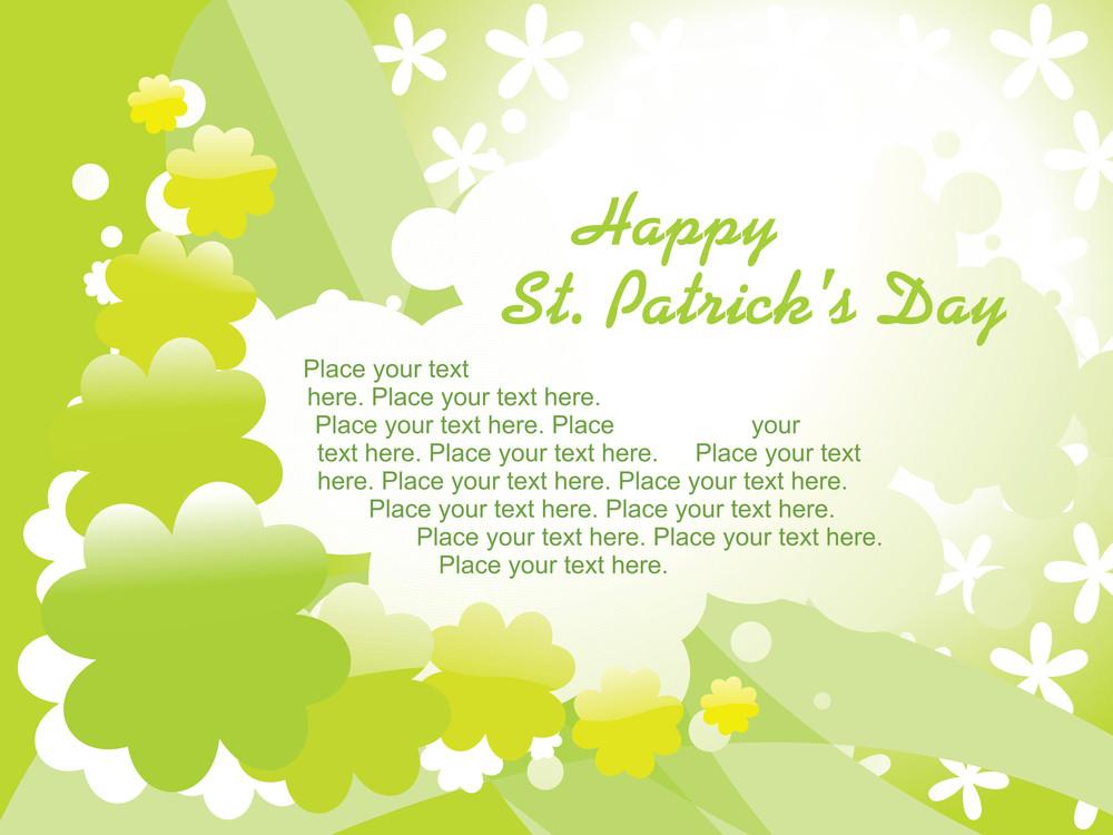 St. Patrick Day Card Green Wallpaper