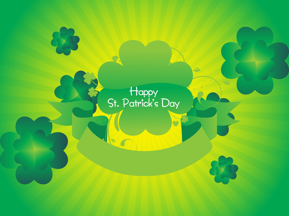 St. Patrick's Background With Retro 17 March