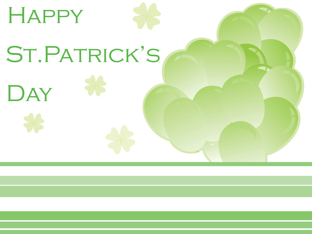 St. Patrick's Day Background With Balloons 17 March