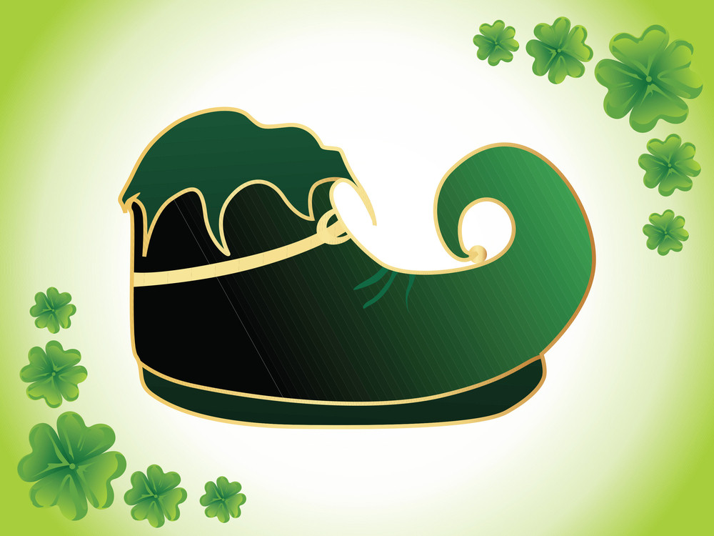 St. Patrick's Day Background With Shoes 17 March