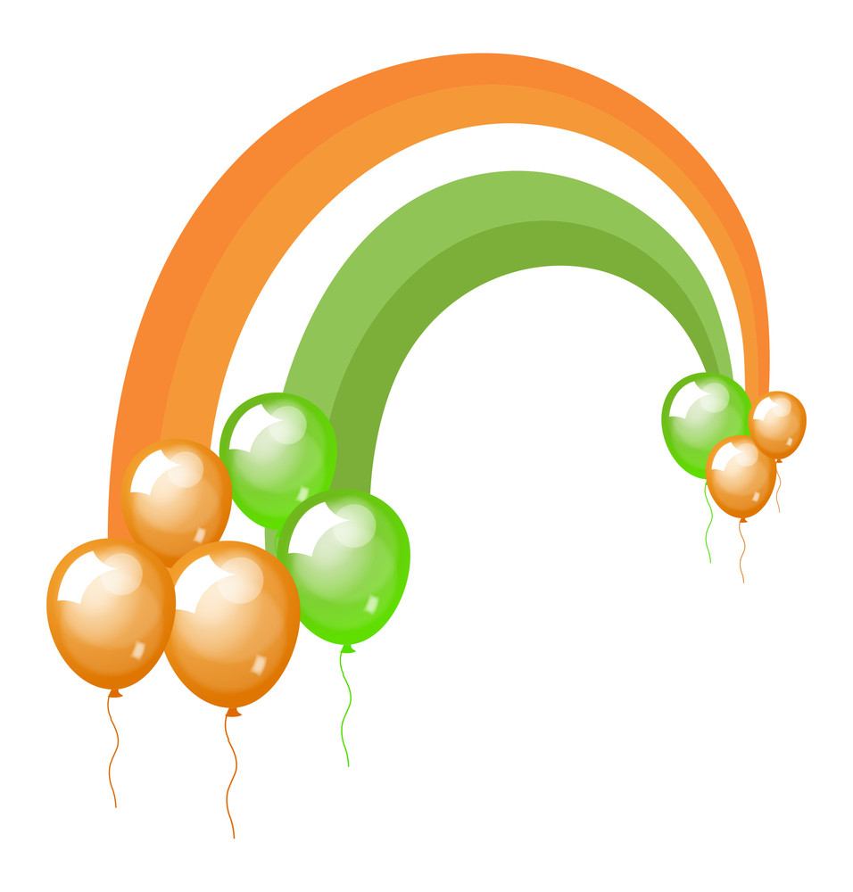 St. Patrick's Day Balloons Background