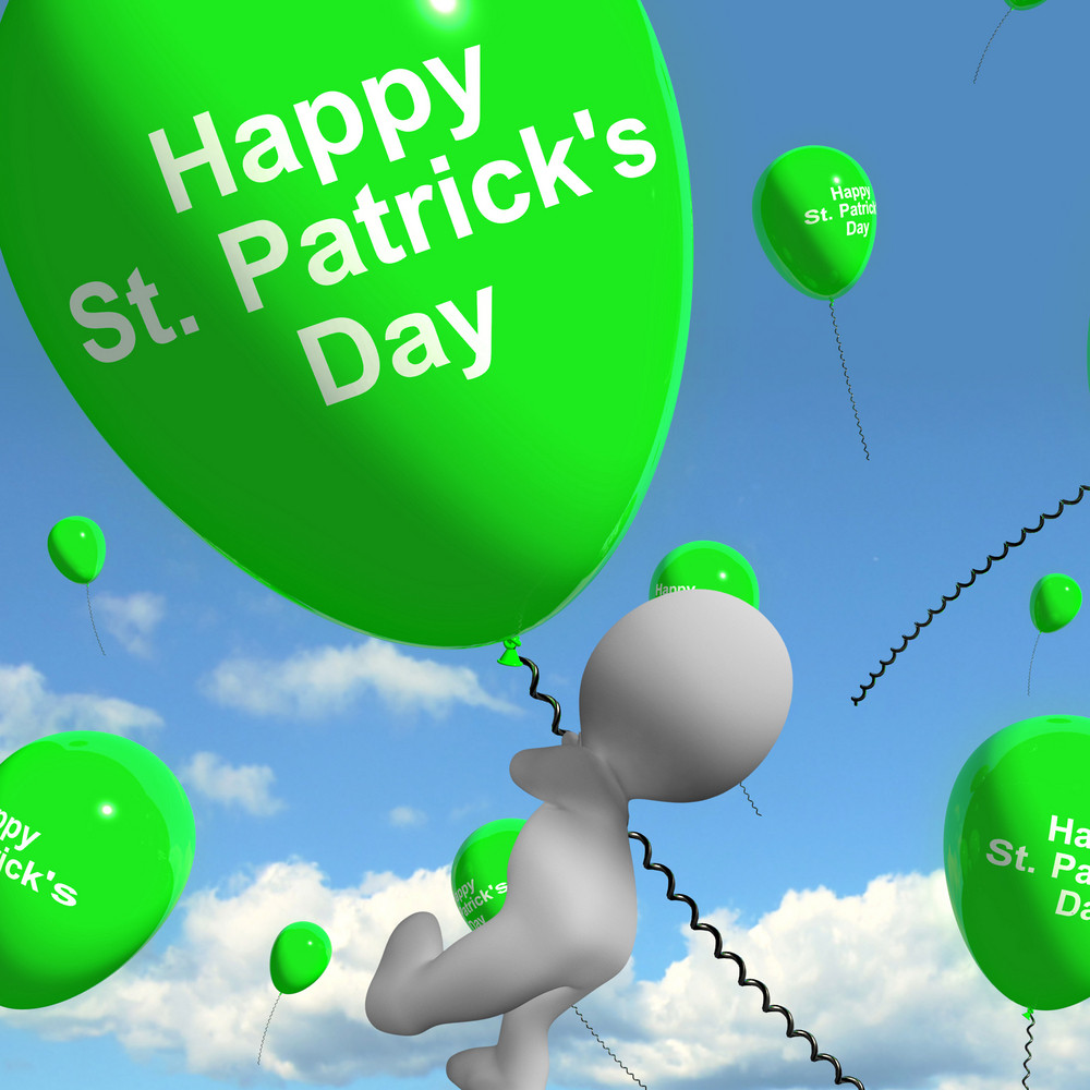 St Patrick's Day Balloons Shows Irish Party Celebration