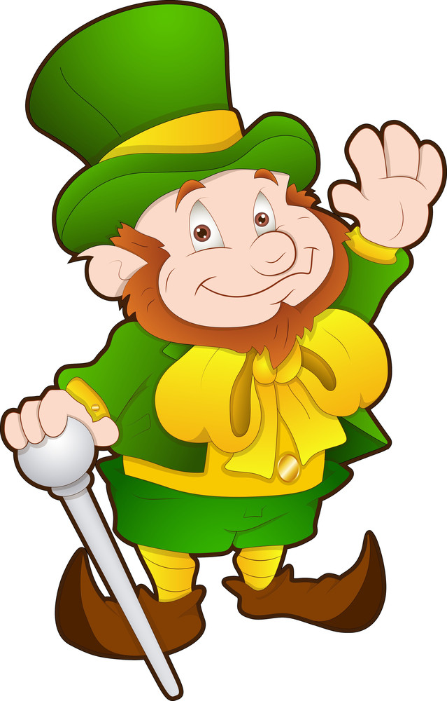 st patrick s day cartoon character royalty free stock image