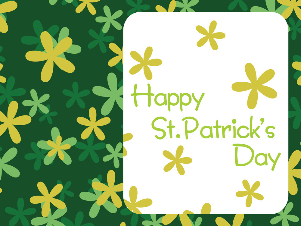 St. Patrick's Day Celebration With Clover 17 March