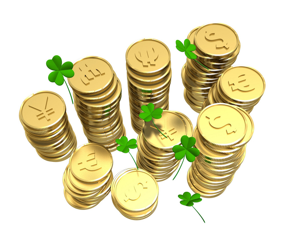 St. Patrick's Day Coins With Shamrock