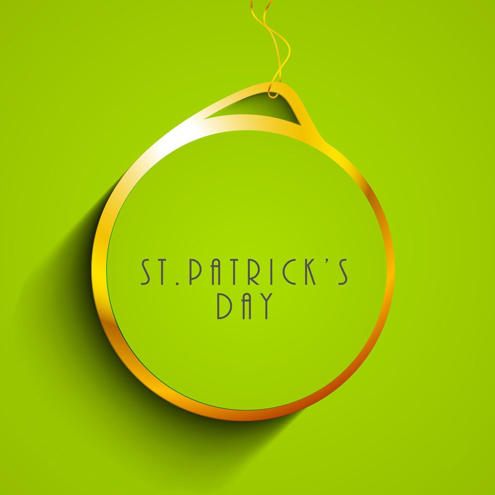 St. Patricks Day Concept With Stylish Text