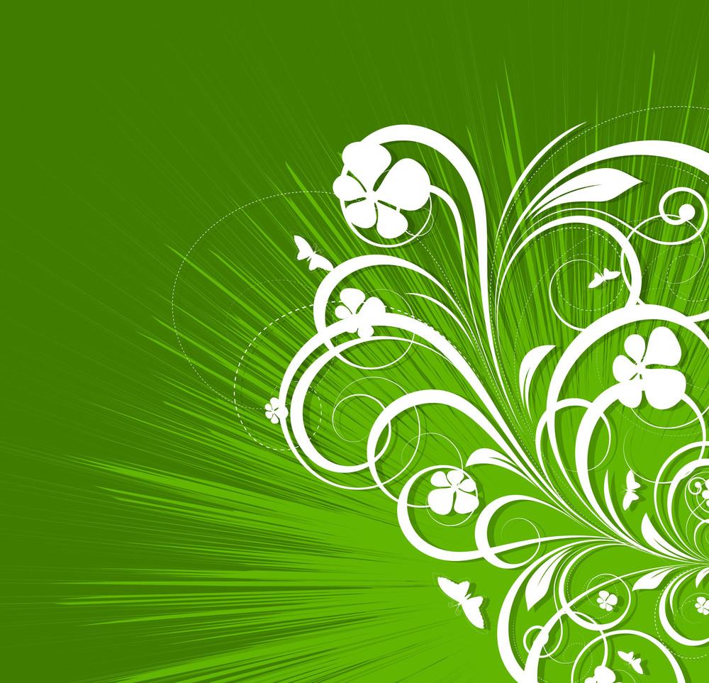 St. Patrick's Day Decor Floral Background