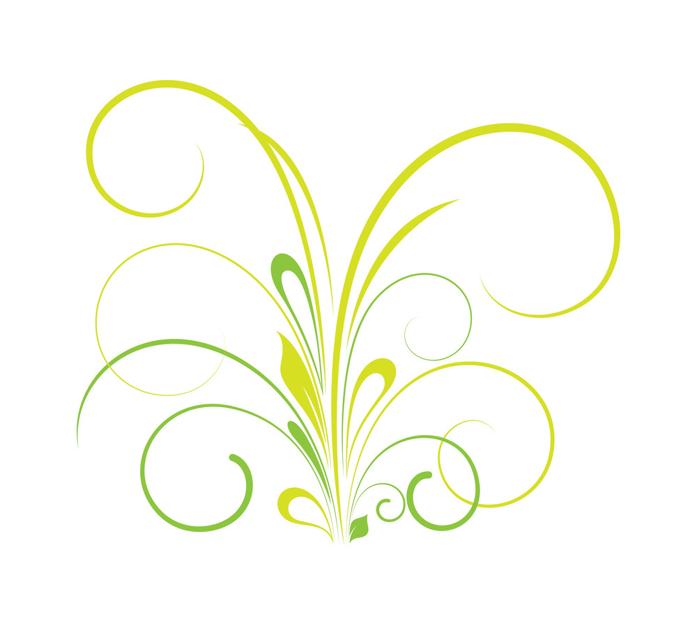 St. Patrick's Day Flourish Element