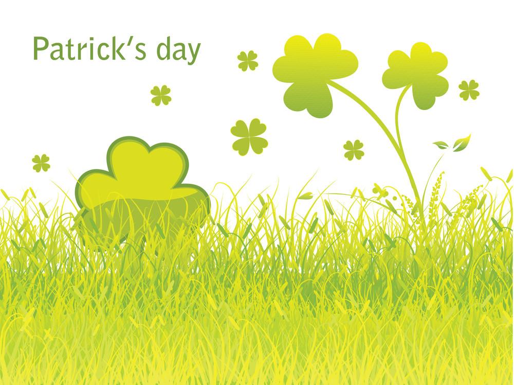 St. Patrick's Day Garden Design Backdrop 17 March