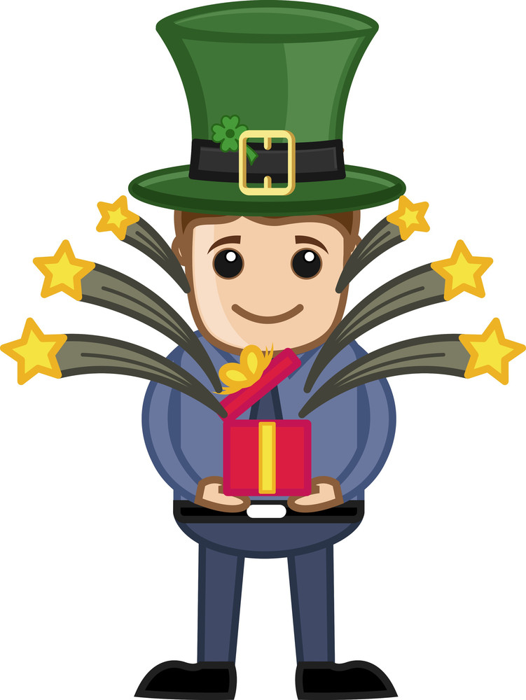 St. Patrick's Day Gift - Business Cartoon Characters