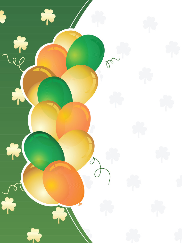 St. Patrick's Day Greeting With Balloons 17 March