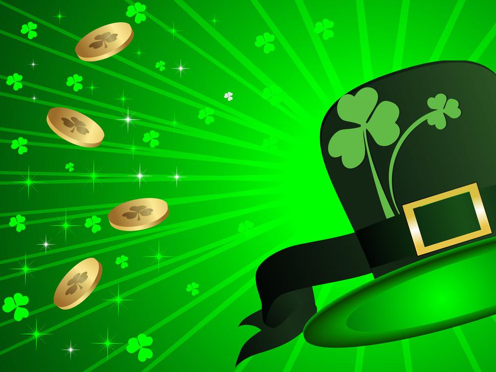 St Patrick's Day Hat Background