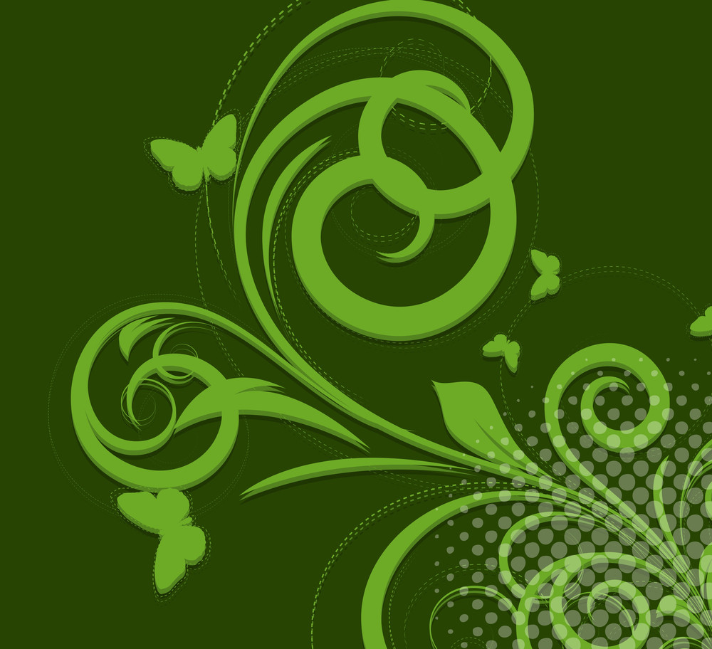 St. Patrick's Day Swirl Elements